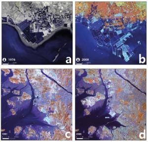 comparison satellite images over time