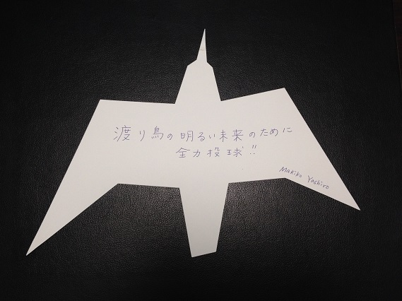 'Devoting all my energy for the bright future of migratory waterbirds' in Japanese @ EAAFP