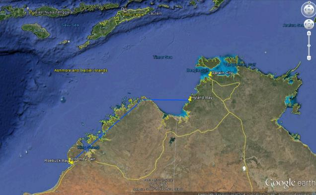 Great Knot 5LYBR, PTT 38 goes on a jaunt to the Northern Territory.