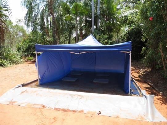 The tent for the 'personality' experiment
